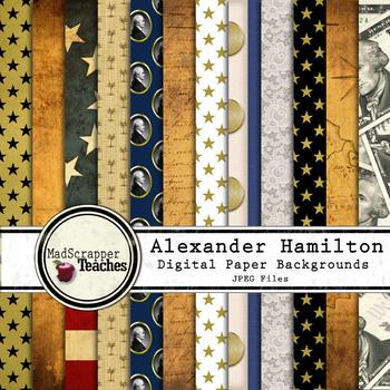 Digital Paper Backgrounds Alexander Hamilton Digital Paper Backgrounds