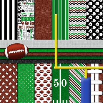 Digital Paper Backgrounds Big Sports Bundle Digital Paper and Clip Art