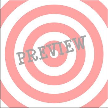 Digital Paper Backgrounds : Bullseye - 61 Backgrounds