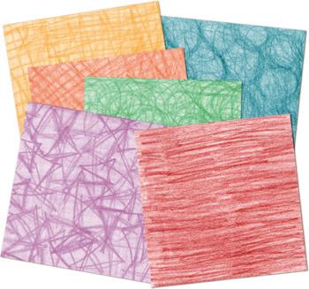 Digital Paper Backgrounds - Crayon Scribble