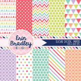 Digital Paper Backgrounds - Sugar Set