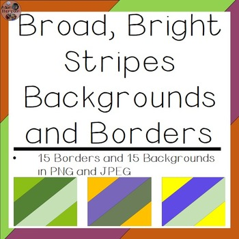 Backgrounds and Borders- Broad, Bright Stripes