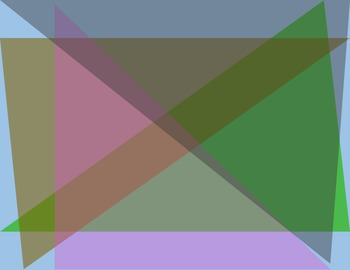 Backgrounds and Borders- Overlapping Triangles