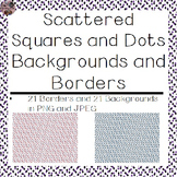 Backgrounds and Borders- Scattered Squares and Dots