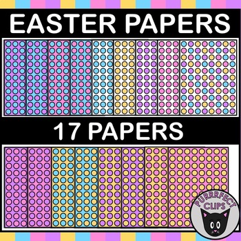 Digital Paper Backgrounds for Easter or Spring Resources Dots