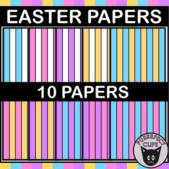 Digital Paper Backgrounds for Easter or Spring Resources Stripes