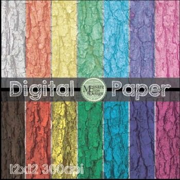 Digital Paper Bark Texture Pattern Backgrounds {Messare Clips and Design}