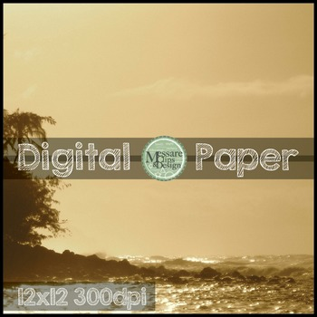 Digital Paper Skies and Water Texture Backgrounds {Messare Clips and Design}