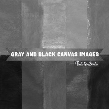 Digital Paper - Black and Gray Burlap