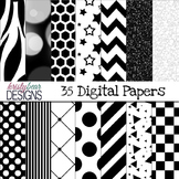 Digital Paper- Black and White