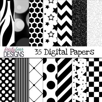 Digital Paper- Black and White