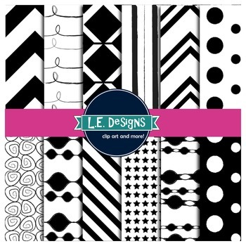 Digital Paper {Black and White}