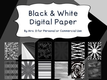 Digital Paper - Black and White