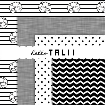 Digital Paper: Black and White Paper Pack
