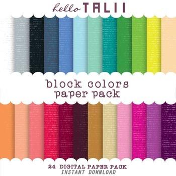 Digital Paper: Block Colors