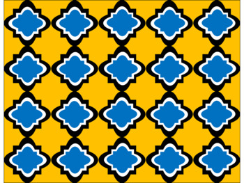 Digital Paper - Blue & Gold Moroccan
