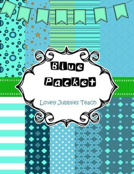 Digital Paper: Blue Packet