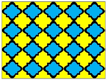 Digital Paper - Blue & Yellow Moroccan