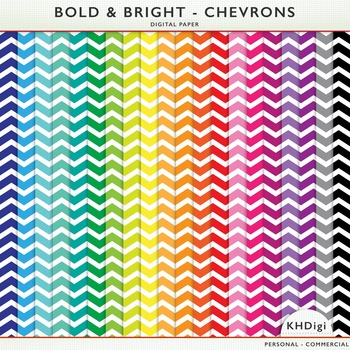 Digital Paper - Bold & Bright Chevrons