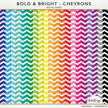 Digital Paper - Bold & Bright Chevrons