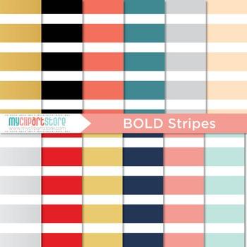 Digital Paper - Bold Stripes