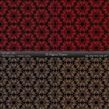 Digital Paper Book Texture Journal Decorative Background  12 X 12 + 8.5 X 11 A4