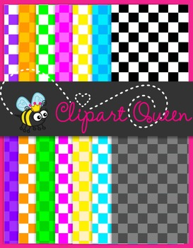 Digital Paper: Bright Checkerboard