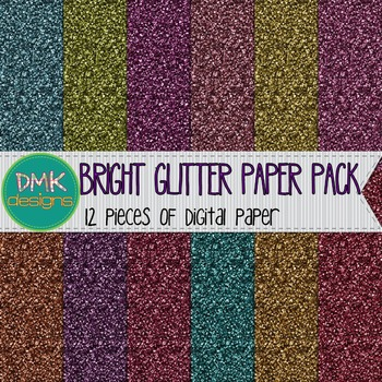 Digital Paper- Bright Glitter