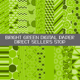 Digital Paper Bright Green Background Clip Art