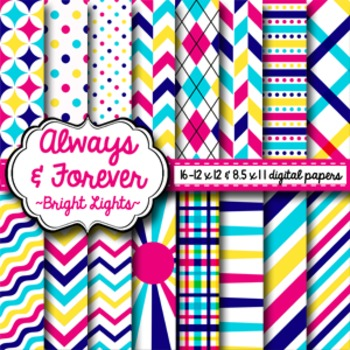 Digital Paper Bright Lights