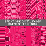 Digital Paper Bright Pink Background Clip Art
