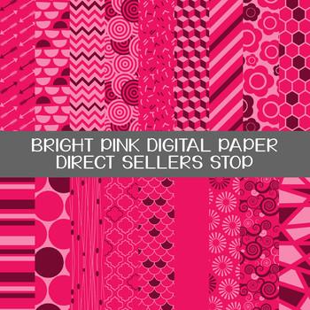 Digital Paper Bright Pink Background Clip Art