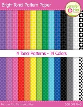 Digital Paper: Bright Tonal Patterned Digital Paper for TPT Cover Designs
