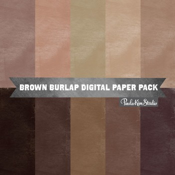 Digital Paper - Brown Burlap
