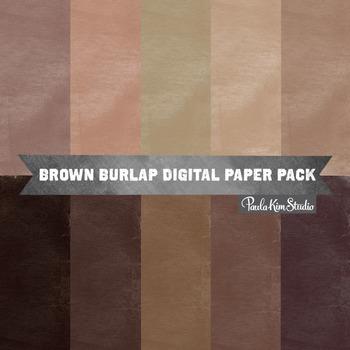 Digital Paper - Brown Burlap