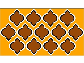 FREE Digital Paper - Brown & Orange-Gold Moroccan