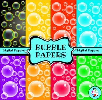 Digital Paper Bubbles
