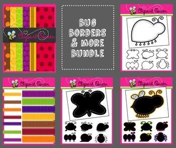 Clipart: Bug Borders & More Bundle