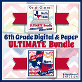 6th Grade TEKS Math Curriculum Bundle ⭐ Digital & Paper ⭐ Google & PDF Formats