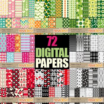 Digital Paper Bundle (72 papers) commercial use