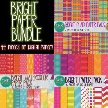 Digital Paper Bundle- Brights