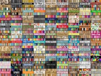 50% OFF SALE - Digital Paper Bundle - Includes All of my Digital Paper Designs