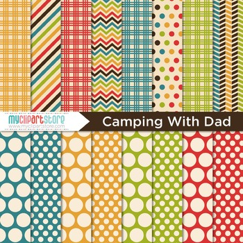 Digital Paper - Camping with Dad / Father's Day