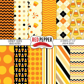 Digital Paper / Patterns - Candy Corn