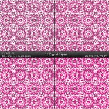 Digital Paper Card  12 X 12 + 8.5 X 11 Lot A4 Premade Supplie Set Retro Texture