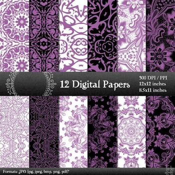 Digital Paper Card Abstract Style Retro Jpg Pack Piecing Graphics Texture Corner