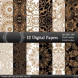 Digital Paper Card Pattern Paper Clipart Album Scrap Book Embellishment Abstract
