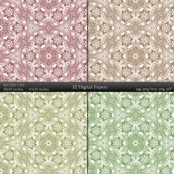 Digital Paper Card Printable Fabric Journal Clipart Lace Sheet Clip Collag Art