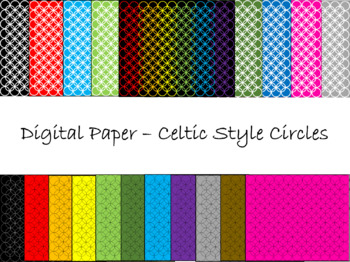 Digital Paper - Celtic Style Circles