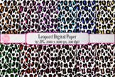 Digital Paper - Cheetah Leopard Background, Clip Art for Commercial Use